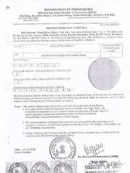 Govt. of Maharashtra Certificate