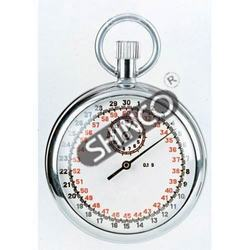 Stop Watch, Analog, 15 Minute, 1/10 Second, Single Action