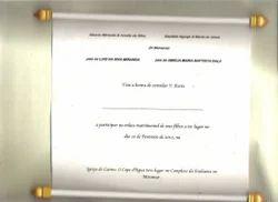 Invitation Cardboard Handmade Paper Scroll Invitations with Custom Prints, 2, 6*8
