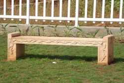 Carved Stone Bench