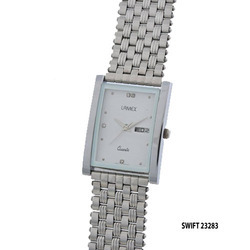 Men's Silver Chain Watch