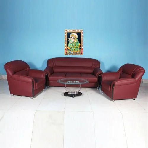 Charming Royal Maroon Sofa Set