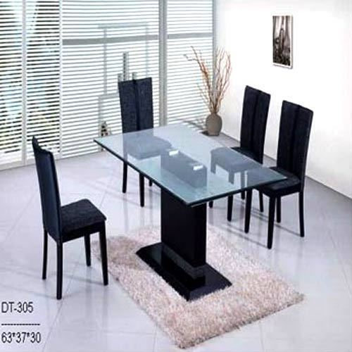 Dining Table With Plastic Black Chair Fantasy Furniture Rajkot