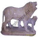 Lion With Cub Statue