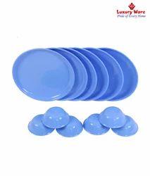 6 Pcs Full Round Plates / Veg Bowls