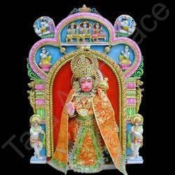 White Marble Veer Hanuman Moorti