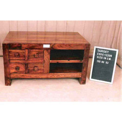 TV Table With 4 Drawer