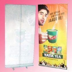 Silver Good Pull Up Banner Stand, Size: 6x3ft, For Advertising