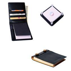 Black Leather Jotters, for Office, Packaging Type: Packet