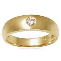 Solitaire Men's Gold Rings