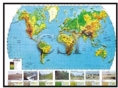 Nystrom World Map.Maps 3d Nystrom Chandra Scientific Industries Manufacturer In
