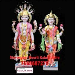Marble Vishnu Laxmi Murti