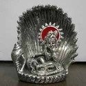 White Metal Krishna Idol