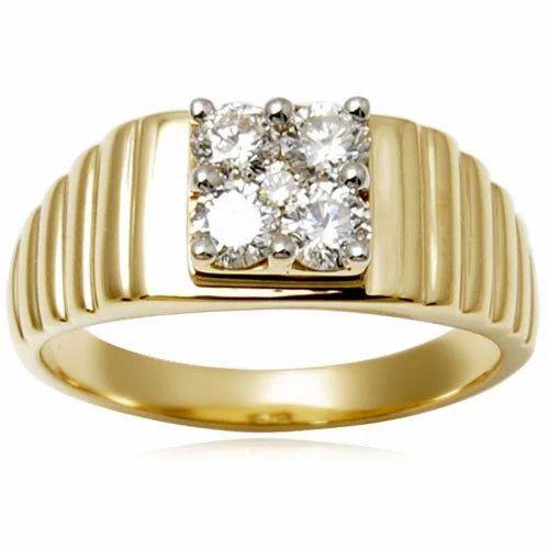 Men Diamond Gold Rings Gold Rings Valentine Jewellery India