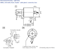 Encoder Shaft Dimensional Drawing - Light Duty