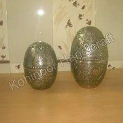 Silver Metal Egg
