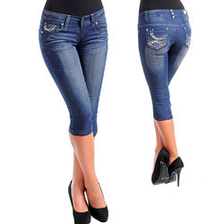 Womens Denim Capri Pants, Ladies Dresses, Apparels & Clothings ...
