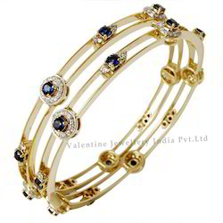 Sapphire Gold Bangle