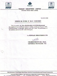 The Purchase Order Copy Of Precision Infratech Ltd.