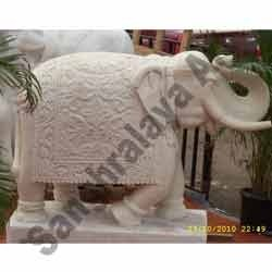 Marble Carving Elephant Statue