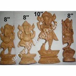 Wooden Standing Ganesh Ji