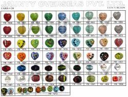 Heart Shape Fancy Glass Beads
