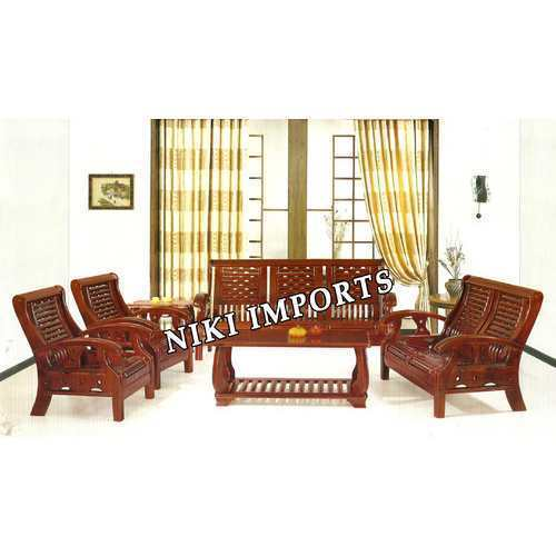 Wooden Sofa New 2255 Sofa Set Rexine Other From Chennai