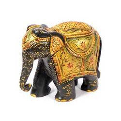 Black Wooden Elephant