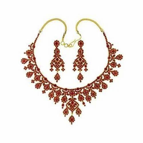 62daf3512c097 Karat Gold Ruby Necklace Set | Select Jewels | Manufacturer ...