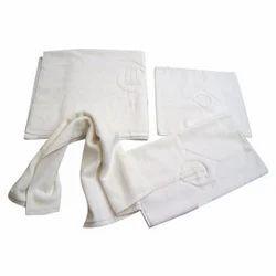 Plain Cotton Hotel Bath Towels, 450-550 GSM