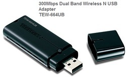 300Mbps Dual Band Wireless N USB Adapter