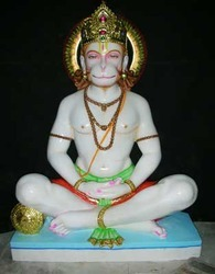 HU-0031 Marble Hanuman God Statues