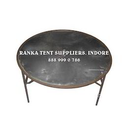 Iron Wedding Round Table, Seating Capacity: 6 Person