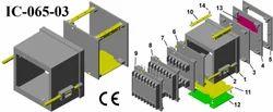 Plastic Electrical Enclosure Din 96x96x65