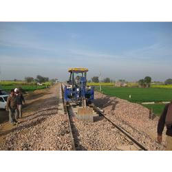 Ballast Putting on New Railway Track