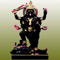 Marble Laxmi Narayan Statue Black Marble Vishnu Statue