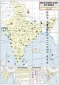 August Weather Map Of India, Size: 70x100 Cm