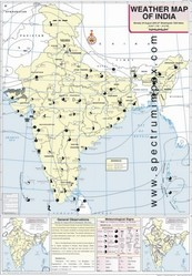 August Weather Map Of India