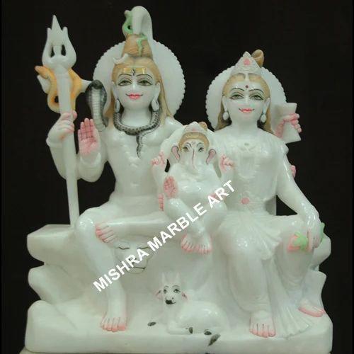 Shiva Parvati Moorties Shiv Parvati And Ganesh Ji Moorti