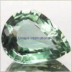 Green Amethyst Pear Cut Gemstone