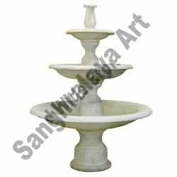 White Marble Three Tier Fountain