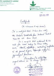 Dr. Laxmikant  D. Ladukar - Ladukar Hospital