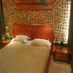 Teak Wood Designer Bed