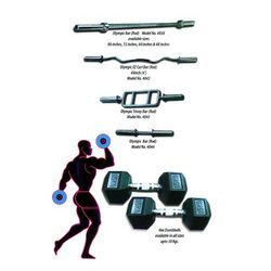 Rods, Rubber Dumbbells in Black color with weight: 1 KG-15 KG