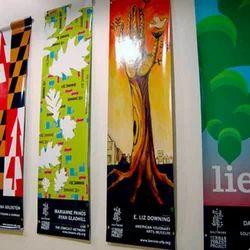 Acrylic Flex Advertising Banner, Shape: Rectangular, Size: Vary