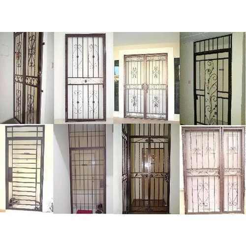 Grill door price pvc folding doors price pvc folding for Window design tamilnadu
