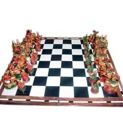 Wooden Painted Chess