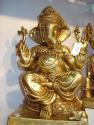 Ganesh Ji Murtis Brass