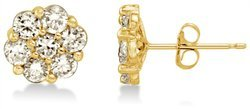 Solid 14k White OR Yellow Gold Earring