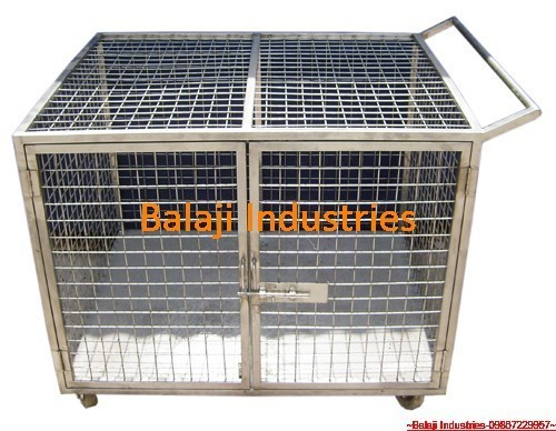 Material Handling Trollies S S Cage Trolley With Wheels